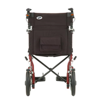 Image of 19 inch Transport Chair with 12 inch Rear Wheels - 330 9
