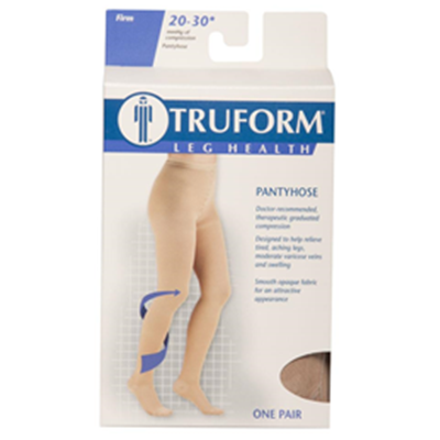 Image of 1756 TRUFORM Classic Compression Ladies' Closed Toe, Standard Figure Pantyhose 5