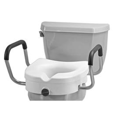 Image of RAISED TOILET SEAT W/ DETACHABLE ARMS 2