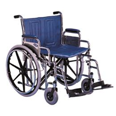 "Image of Invacare Tracer IV Heavy Duty Wheelchair with Desk-Length Arms, 22""x18"""