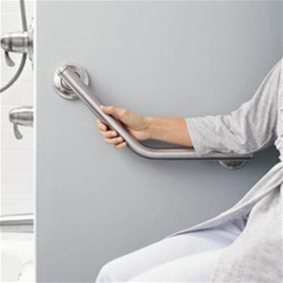 Image of Designer Angled Grab Bar with Grip Pads 3