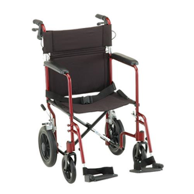 Image of 19 inch Transport Chair with 12 inch Rear Wheels - 330 2