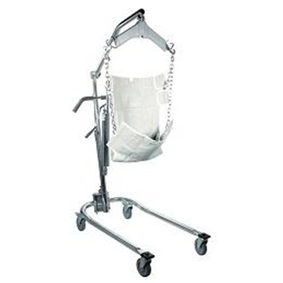 Image of Hydraulic, Deluxe Chrome-Plated Patient Lift 1