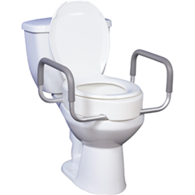 Image of Premium Raised Toilet Seat with Removable Arms 2