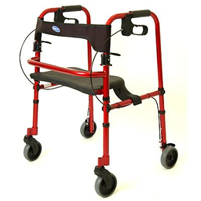 Image of Invacare Rollite Rollator, Red - Adult