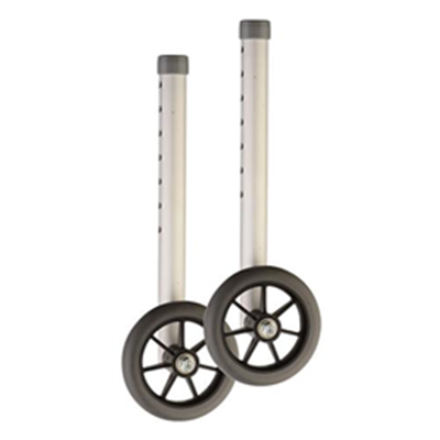 "Image of 5"" Wheels with Extra Tall Shaft for 1"" Folding Walker 2"