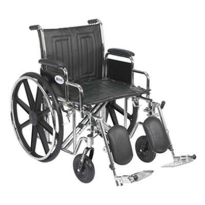 Image of Drive Sentra EC Heavy Duty - Dual Axle Wheelchair w/Det. Desk Arms and ELRs