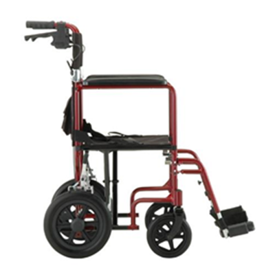 Image of 19 inch Transport Chair with 12 inch Rear Wheels - 330 7