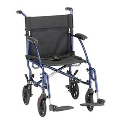 "Image of 18"" LIGHTWEIGHT TRANSPORT CHAIR - 377B-R 2"