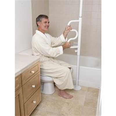 Image of Security Pole & Curve Grab Bar 1