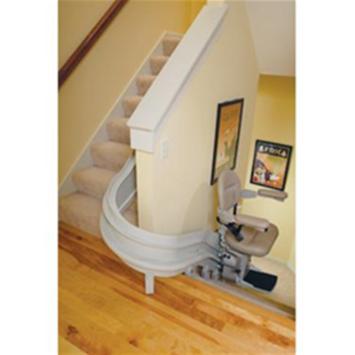 Image of Custom Curved Rail Stairlift 2