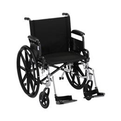 "Image of 20"" LIGHTWEIGHT WHEELCHAIR W/ DESK ARMS AND FOOTRESTS - 7200L 2"