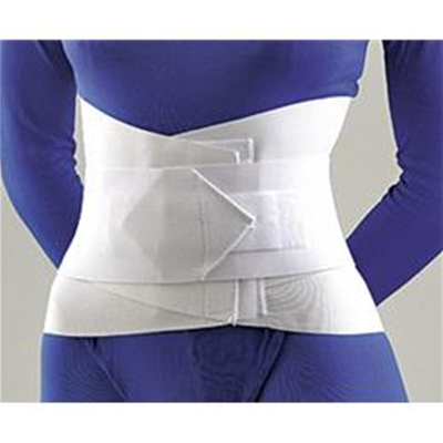 "Image of Lumbar Sacral Support W/Abd Belt, 10"" Sm White 2"