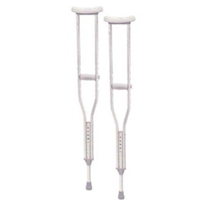 Image of TALL ADULT ALUMINUM CRUTCHES 2