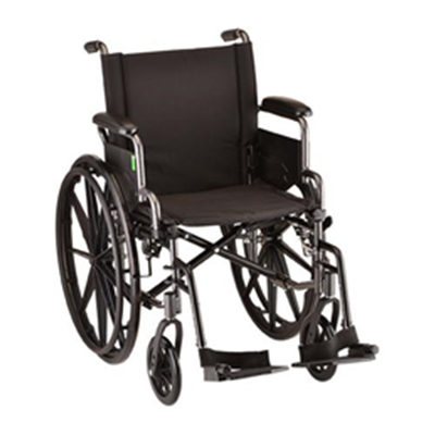 "Image of 16"" Lightweight Wheelchair with Desk Arms and Footrests 2"