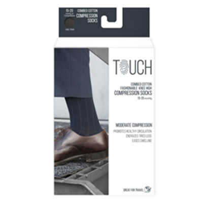 Image of 1012 TOUCH Men's Compression Ribbed Pattern Knee Socks 7