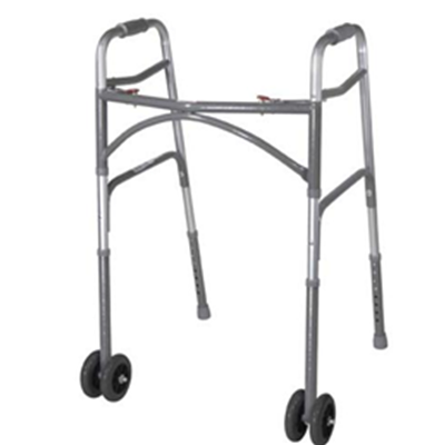 Image of BARIATRIC ALUMINUM FOLDING WALKER, TWO BUTTON