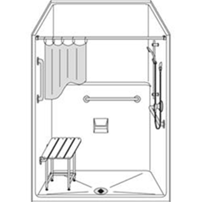 Image of Barrier Free Shower LSS4836F2T