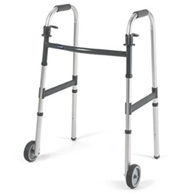"Image of Invacare I-Class Junior Paddle Walker - 5"" Fixed Wheels"