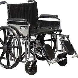 Drive Medical :: Bariatric Wheelchair  Rem Desk S/A Footrests  22  Wide