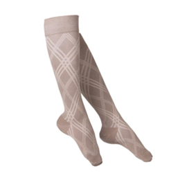 Image of 1074 TOUCH Ladies' Compression Argyle Pattern Knee Socks 5