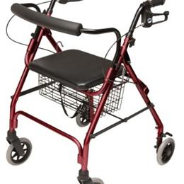 Image of 4-Wheel Rollator Walker Walkabout Lite GHP-RJ-4300 2