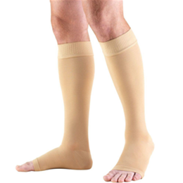 Airway Surgical :: 0864 TRUFORM Classic Compression Ladies' Below Knee, Open Toe, Stay-Up Beaded Top, Stocking