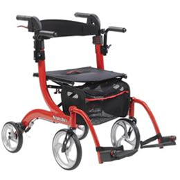 Drive Medical :: Nitro Duet 2-in-1 Walker And Transport Chair