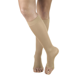 Airway Surgical :: 0361 TRUFORM Ladies' Opaque Knee High Open-Toe Stockings