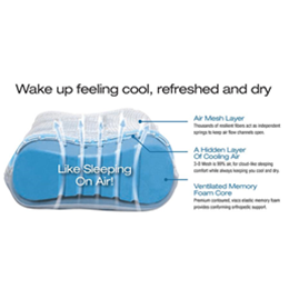 Image of Contour Cloud Cool Air Edition Pillow