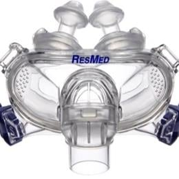 ResMed :: Mirage Liberty™ full face mask frame system with small cushion and large pillows– no headgear