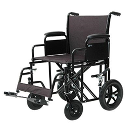 Image of ProBasics® Heavy-Duty Transport Wheelchair - Black