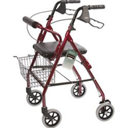 Roscoe Medical :: Rollator with Padded Seat