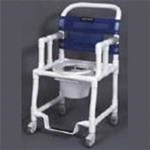 Bathroom Safety :: Anthros Medical :: PVC Rolling Shower Chair with Drop Arms
