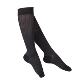 Airway Surgical :: 1061 TOUCH Ladies' Compression Herringbone Pattern Knee Socks