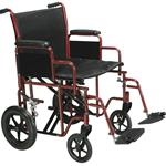 Bariatric Heavy Duty Transport Wheelchair With Swing Away Footrest - Product Description</SPAN