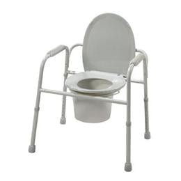 Drive :: Deluxe All-In-One Steel Commode