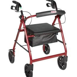 Drive :: Rollator With Fold Up And Removable Back Support And Padded Seat