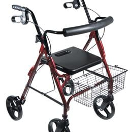 "Rollators :: Drive :: Dlite Rollator Walker With 8"" Wheels And Loop Brakes"