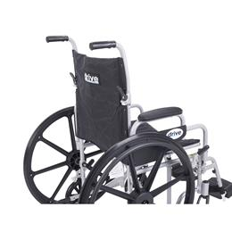 Image of Poly Fly Light Weight Transport Chair Wheelchair With Swing Away Footrest