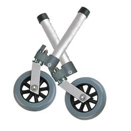 Drive Medical :: Comb. Swivel/Fixed Wheels 5  w/Lock & Rear Glides (pr)