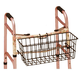 Image of Basket with Plastic Liner for Folding Walker 2