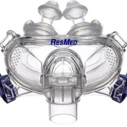 ResMed :: Mirage Liberty™ full face mask frame system with small cushion and medium pillows – no headgear