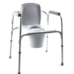 Invacare :: All-In-One Gray Coated Steel Commode